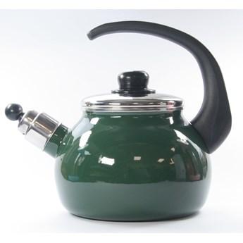 Czajnik emaliowany 2,2 litra zielony baryłka