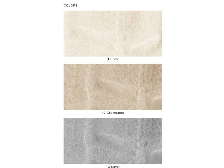 Pled futrzany Blumarine Chamonix Silver Poliester 140x190 cm Akryl Koc Kategoria Koce i pledy