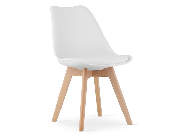 NOWOCZESNE KRZESŁO 53E-7 BIAŁE Drewno Tworzywo sztuczne Kolor Biały Wysokość 84 cm Głębokość 56 cm Szerokość 49 cm Kategoria Krzesła kuchenne