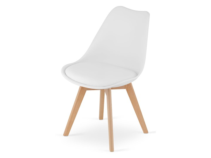 NOWOCZESNE KRZESŁO 53E-7 BIAŁE Kolor Biały Głębokość 56 cm Szerokość 49 cm Tworzywo sztuczne Drewno Wysokość 84 cm Kategoria Krzesła kuchenne