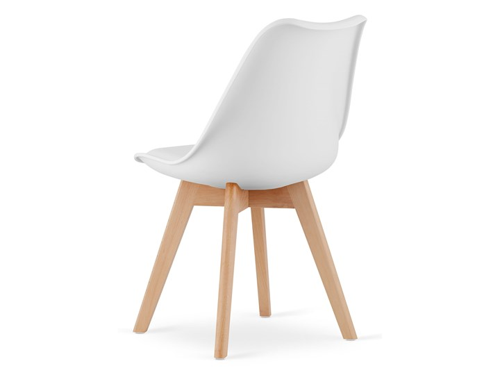 NOWOCZESNE KRZESŁO 53E-7 BIAŁE Wysokość 84 cm Drewno Głębokość 56 cm Szerokość 49 cm Tworzywo sztuczne Kategoria Krzesła kuchenne