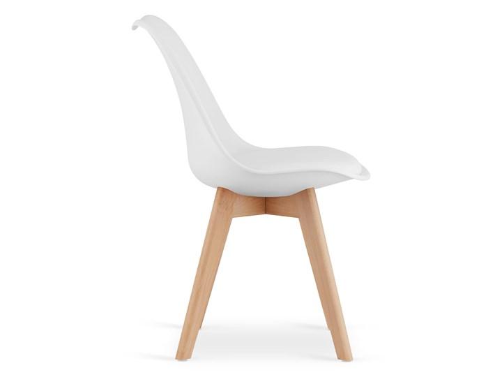NOWOCZESNE KRZESŁO 53E-7 BIAŁE Drewno Kolor Biały Szerokość 49 cm Głębokość 56 cm Wysokość 84 cm Tworzywo sztuczne Kategoria Krzesła kuchenne