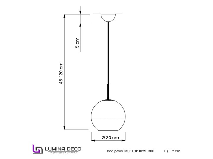 NOWOCZESNA LAMPA WISZĄCA ZŁOTA VERONI D30 Szkło Lampa kula Metal Kolor Złoty