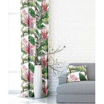 Piękna zasłona w egzotyczne liście i kwiaty 410338 - 101
