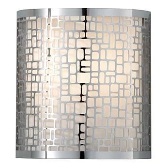 Metalowy - jedwabny abażur, lampa ścienna - kinkiet do salonu sypialni (1xE27) Feiss (Joplin)
