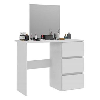 Biała toaletka kosmetyczna z lustrem - Beliza