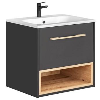 Podwieszana szafka łazienkowa z umywalką - Ketris 2S 60 cm