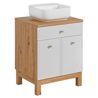 Nowoczesna szafka łazienkowa z umywalką - Belissa 2S 60 cm