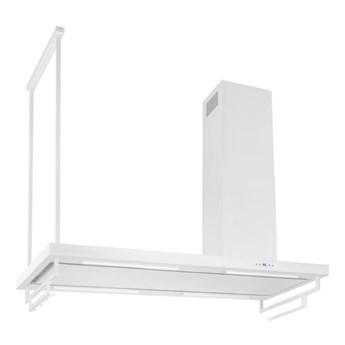 Okap wyspowy Metropolis Pro White Matt 120 cm