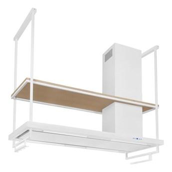 Okap wyspowy Metropolis Premium Wood White Matt 120 cm