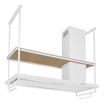 Okap wyspowy Metropolis Premium Wood White Matt 150 cm