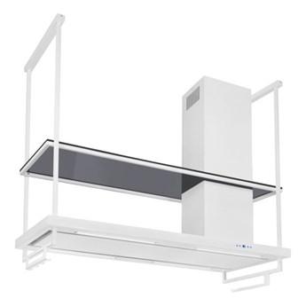 Okap wyspowy Metropolis Premium Glass White Matt 150 cm