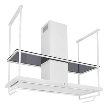 Okap wyspowy Centropolis Premium Glass White Matt 120 cm