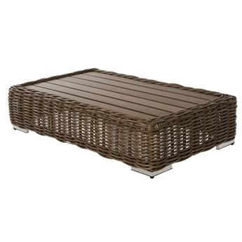 Miloo :: Stolik ogrodowy Maje brązowy 127x74x30 cm