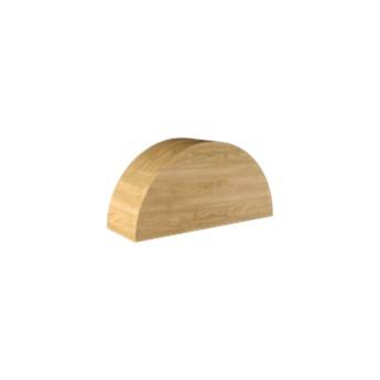 Loft Decora :: Dekoracja stojąca Półowal naturalna szer. 30 cm