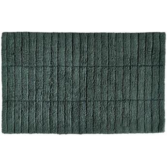 Mata łazienkowa Tiles 80x50 cm butelkowa zieleń