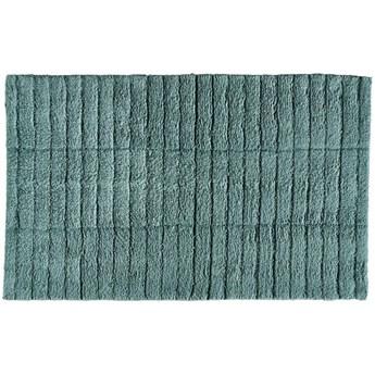 Mata łazienkowa Tiles 80x50 cm zielona - petrol green
