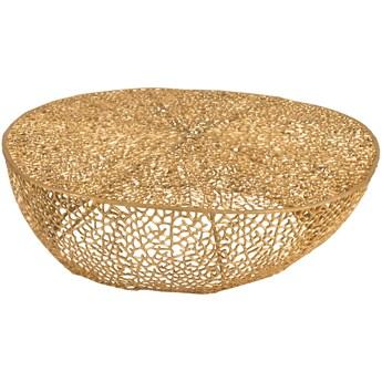 Stolik kawowy Coral 115x32 cm złoty