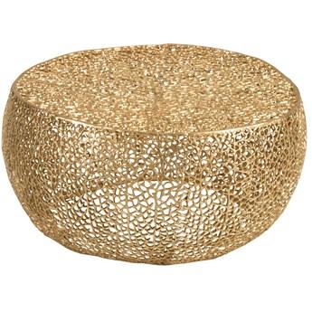 Stolik kawowy Coral 81x81 cm złoty