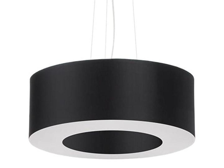 Żyrandol SATURNO 50 czarny Stal Tkanina Lampa z kloszem Metal Kategoria Lampy wiszące