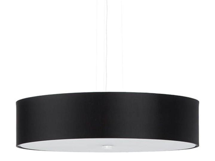 Żyrandol SKALA 50 czarny Tkanina Stal Lampa z kloszem Szkło Metal Kategoria Lampy wiszące