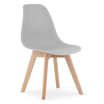 Komplet 4x krzesło do jadalni kuchni nowoczesne z drewnianymi nóżkami skandynawskie KITO szare Leobert