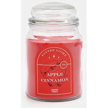 Sinsay - Świeca zapachowa Apple Cinnamon - Czerwony