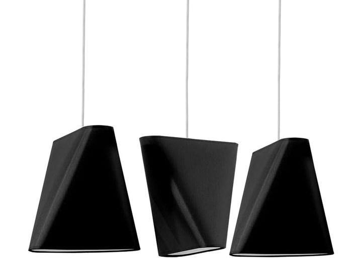 Żyrandol BLUM 3 czarny Tkanina Lampa z kloszem Stal Metal Kategoria Lampy wiszące