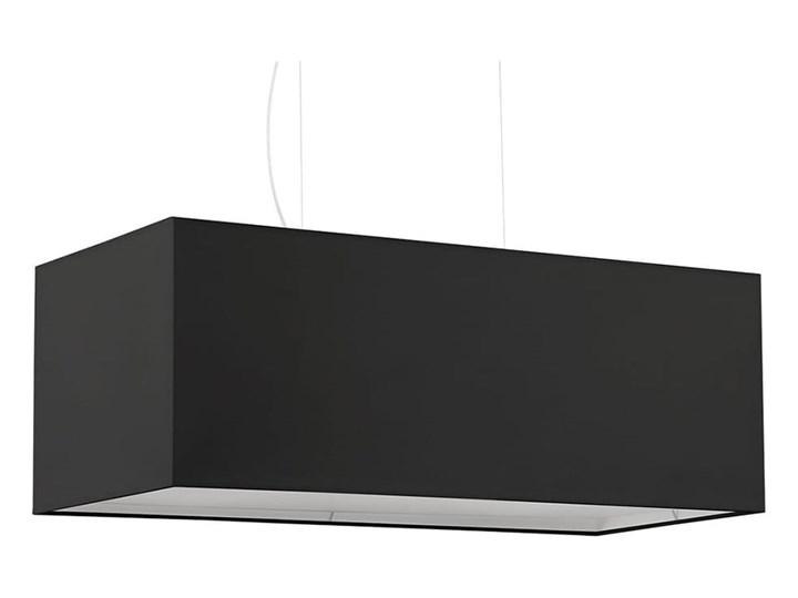 Żyrandol SANTA BIS 80 czarny Metal Stal Lampa z kloszem Tkanina Kategoria Lampy wiszące