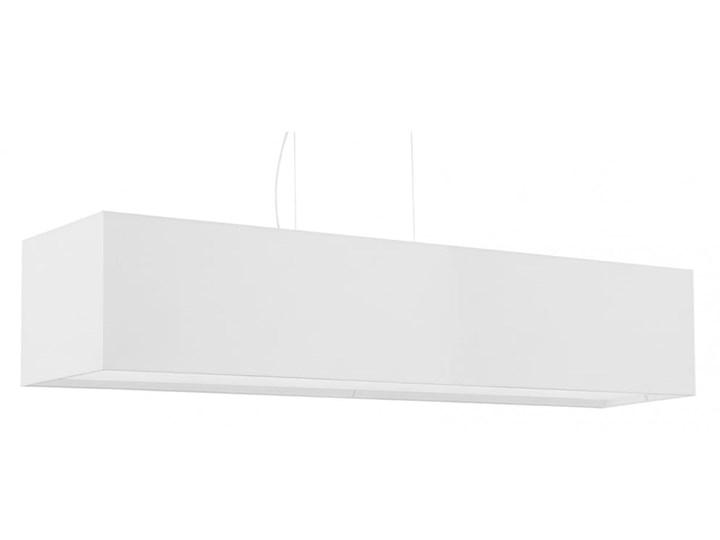 Żyrandol SANTA 120 biały Tkanina Stal Metal Lampa z kloszem Kategoria Lampy wiszące