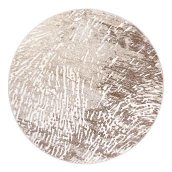 Dywan Okrągły Abstrakcyjny Beżowy Breeze 67208 150 x 150 cm