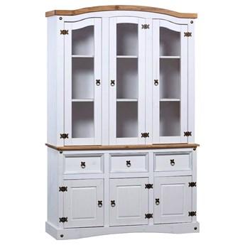 Biały drewniany kredens - Saturi