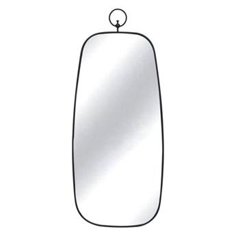 Czarne lustro retro z zawieszką 28x66,5x1,5 cm TOYJ19-093