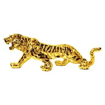Drapieżna złota figura tygrysa 77x22x28 cm 1086