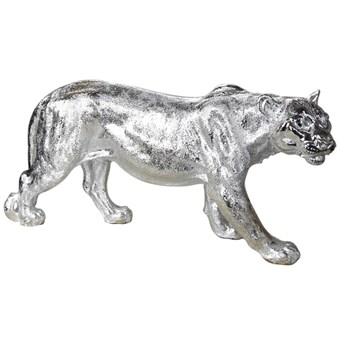 Srebrna figura lwicy 78x16x36 cm A453-G