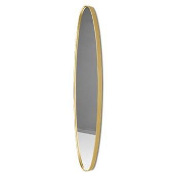 Podłużne lustro w złotej ramie 25x119x4 cm 16F-572