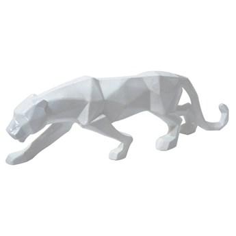 Geometryczna biała figura puma 44x24x9 cm A109