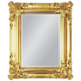 Lustro w złotej oprawie 50x60 cm 21023