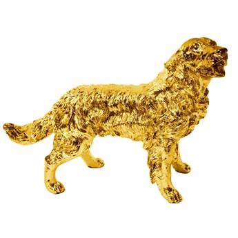 Złota figura psa Golden Retriever 54x44x34 cm  A020