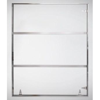 Srebrna oprawa obrazu wykonana z polerowanej stali nierdzewnej 91x121 cm TH12