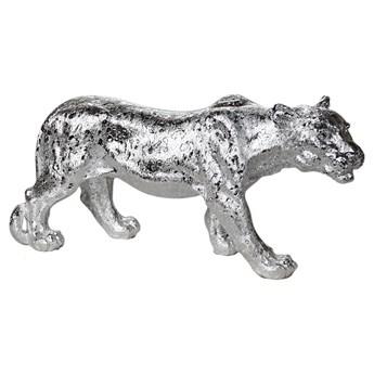 Srebrna figura lwicy 52x14x25 cm A453-2S
