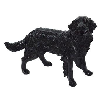 Czarna figura psa Golden Retriever 54x44x34 cm  A020