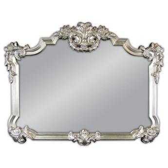 Ozdobne srebrne lustro 100x122 cm PU172