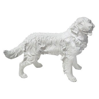 Biała figura psa Golden Retriever 54x44x34 cm A020