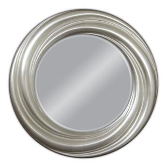 Srebrne okrągłe lustro do zawieszenia Ø94 cm PU041