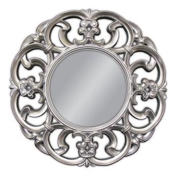 Srebrne okrągłe lustro do zawieszenia Ø100 cm PU041