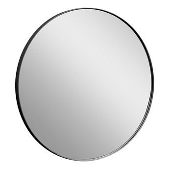 Okrągłe lustro w czarnej oprawie Ø80x4 cm 16F-572
