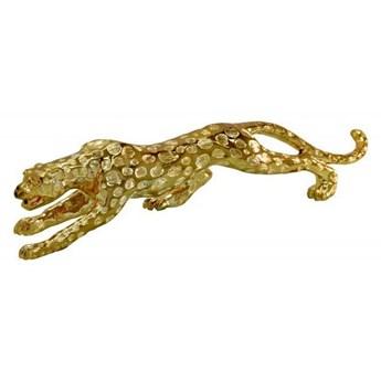 Drapieżna złota figura geparda 48x11x15 cm 1011