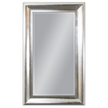 Srebrne lustro w drewnianej oprawie 90x150 cm GP2399