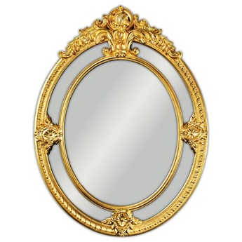 Owalne lustro w złotej ramie 100x133 cm PU225